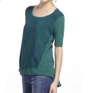 Anthropologie Left of Center Paneled Top | Green